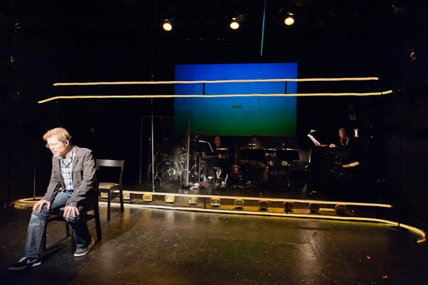 Anthony Rapp performing Without You on stage at Royal Family Performing Arts Space