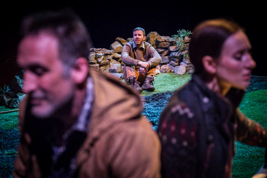 Elizabeth A. Davis, Justin Hagan and Victor Verhaeghe in Four Things at the Royal Family Performing Arts Space.