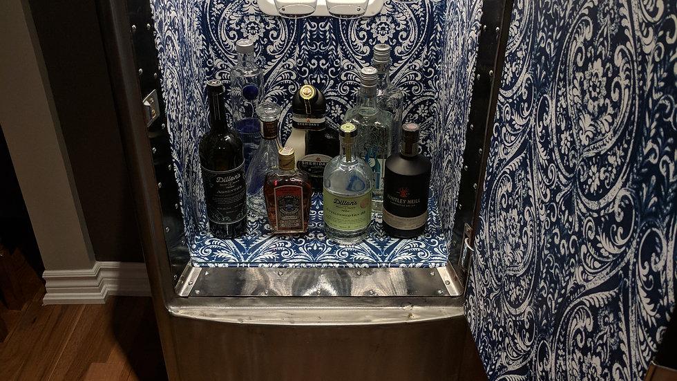 Vintage Fridge Liquor Cabinet