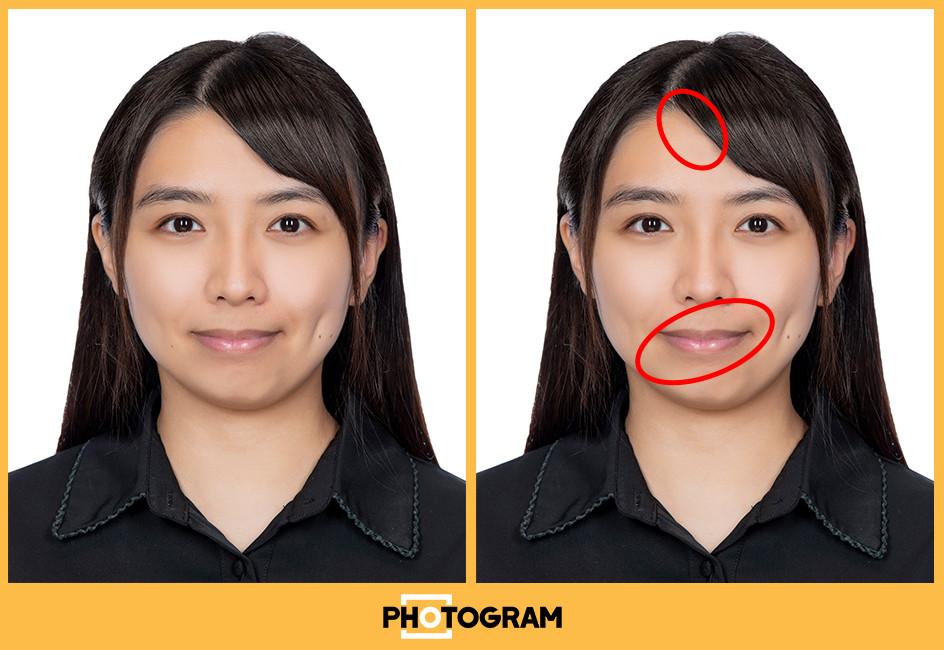 ❌燈光與範例2大致相同, 燈光較硬 ❌口唇兩點反光, 看起來五觀不平衡 ❌眼神光看起來十分兇惡