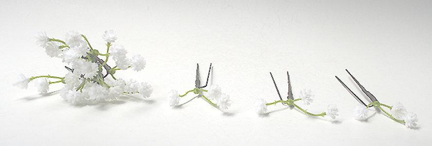 かすみ草の小花パーツの髪飾り(12パーツ)