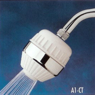 Original All-In-One Shower Filter Chrome Trim-(with A1C Filter Cartridge)