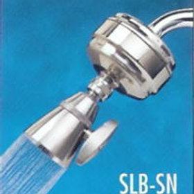 All-Brass Slim-Line Shower Filter Satin Nickel-(with SLC Filter Cartridge)