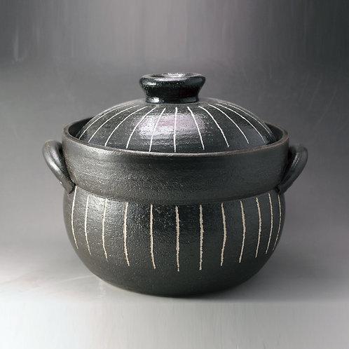 Ceramic rice cooker (stripe)
