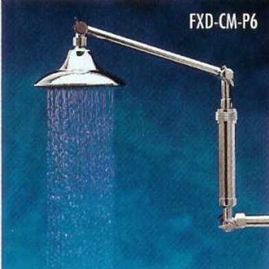 All-Brass ShowerUP Shower Filter FXD Chrome -(with HHC Filter Cartridge)