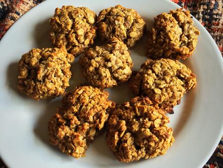 Vegan Spiced Oatmeal Pecan Cookies
