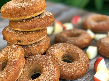 Apple Cider Donuts | Gluten Free & Oil Free