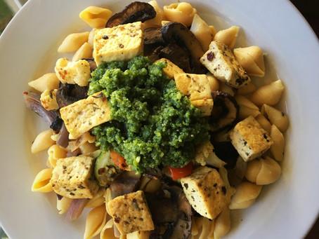 Cashew Pesto and Veggie Pasta