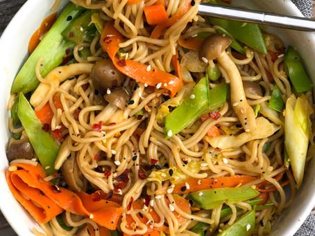 Healthy Veggie Chow Mien | Gluten Free