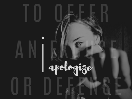 iApologize - I'm (NOT) sorry
