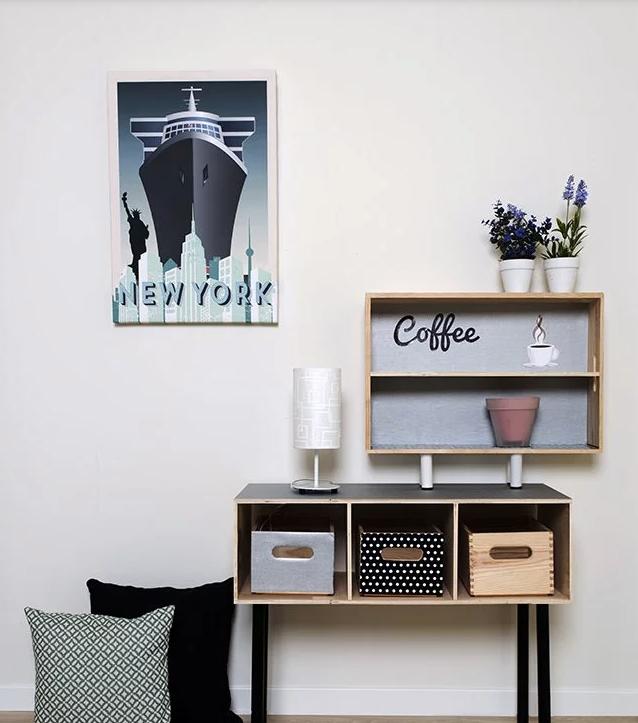 DIY: construye un mueble con cajas de madera al más puro estilo nórdico