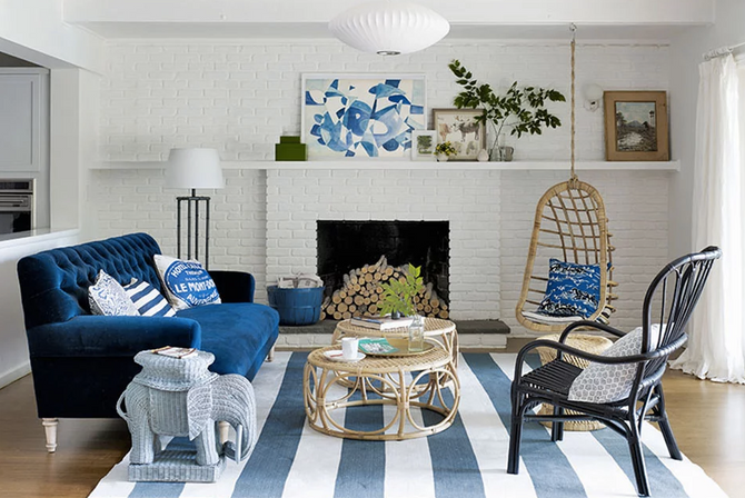 Ideas geniales para vestir tu casa en azul esta primavera.