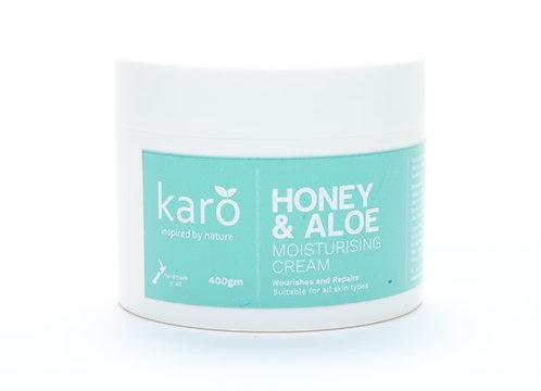 KARO Honey & Aloe Moisturising Cream 400g
