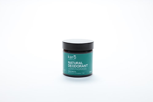 KARO Lemon Grass Natural Deodorant 60gm