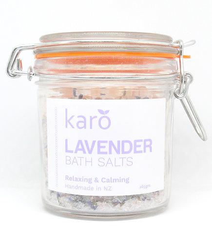 KARO Lavender Bath Salts 265g