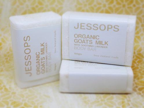 Jessop's Organic Goats Milk Body Bar 100g