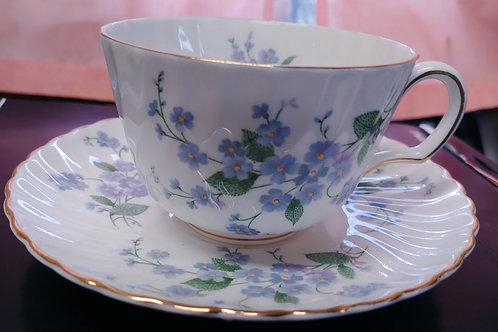 Tea Cup & Saucer - Forget Me Nots