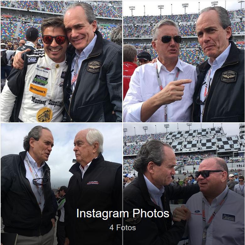 Christian Fittipaldi Chip Ganassi Roger Penske Eddie Cheever at Daytona