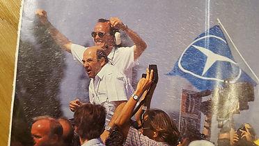 Max Welti gewinnt für Sauber das 24 Stunden Rennen von Le Mans mit Mercedes 1989
