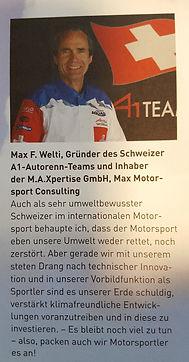 Max Welti as Gründer von Maxpertise und Inhaber des A1 Team Switzerland