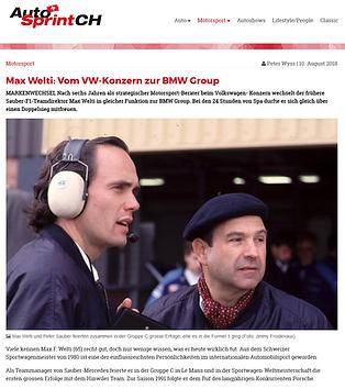 Max Welti von VW zu BMW