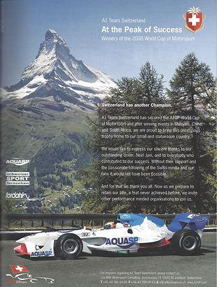Schweizer A1 Team Switzerland vor dem Mattehorn - the Peak of Success