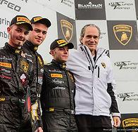 Max Welti wird 2013 Motosport Direktor bei Lamborghini Squadra Corse im Bild während der Siegerehrung zur Lamborhini Super Trofeo auf dem Podest
