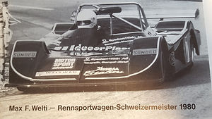 1980 wird Max Welti Schweizer Meister hier im Bild mit dem Wittwer March BMW