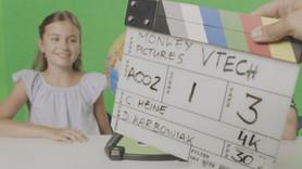 Directing on set.