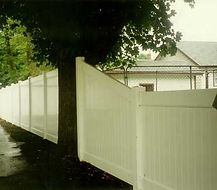 PVC Privacy Fence by Wayne's Fencing
