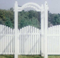 PVC Crowned Spaced Picket by Wayne's Fencing