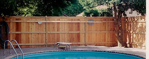 Capped Cedar Privacy Fence to Enclose Your Pool by Wayne's Fencing