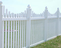 PVC Scalloped Spaced Picket by Wayne's Fencing