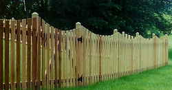 Scalloped Spaced Picket Wayne's Fencing