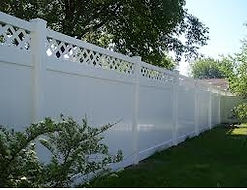 PVC Lattice Topped Privacy by Wayne's Fencing