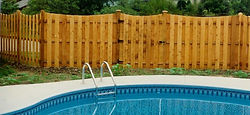 Cedar Shadowbox Fence to Enclose Your Pool by Wayne's Fencing