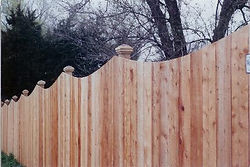 Scalloped Privacy Fence by Wayne's Fencing