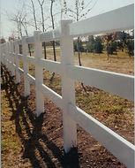 PVC Three Rail Fence by Wayne's Fencing