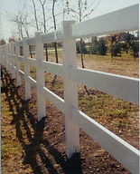 PVC Three Rail Fence by Wayne's Fencing