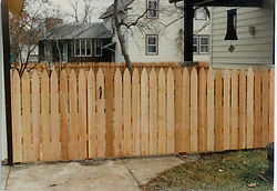 Gothic Spaced Picket by Wayne's Fencing