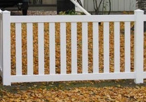 PVC Closed Spaced Picket by Wayne's Fencing