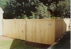 Capped Privacy Fence with Post Caps by Wayne's Fencing