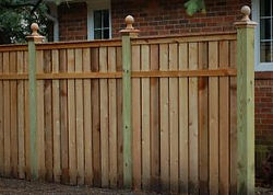 Custom Privacy Fence by Wayne's Fencing