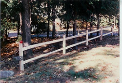 2 Rail Split Rail by Wayne's Fencing