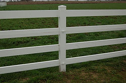 PVC Four Rail with Hot Rail Fence by Wayne's Fencing