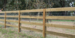 Four Rail With 2 x 4 Woven Wire by Wayne's Fencing