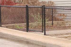 Black Vinyl Coated Chain Link