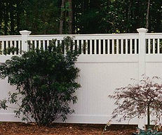 PVC Picket Topped Privacy by Wayne's Fencing