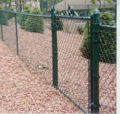 Green Vinyl Coated Chain Link