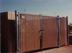 Chain link dumpster enclosures